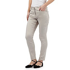RJR.John Rocha - Light grey 'Alice' zip detail slim leg jeans
