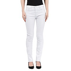 RJR.John Rocha - Light grey metallic slim leg 'Alice' jeans