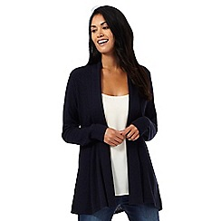 RJR.John Rocha - Navy ribbed edge cardigan