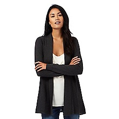 RJR.John Rocha - Dark grey ribbed edge cardigan