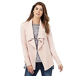 RJR.John Rocha - Pink ribbed wrap over cardigan