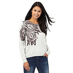 RJR.John Rocha - Grey placement floral print jumper