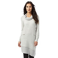 RJR.John Rocha - Light grey chiffon cowl neck tunic
