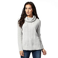 RJR.John Rocha - Grey cowl neck jumper