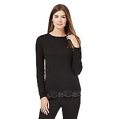 RJR.John Rocha - Black beaded 2-in-1 jumper