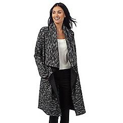 RJR.John Rocha - Black suedette trim blanket coat