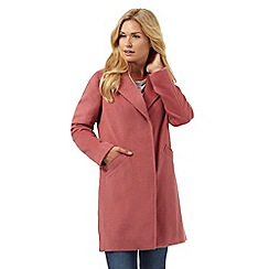 RJR.John Rocha - Pink textured oversized coat