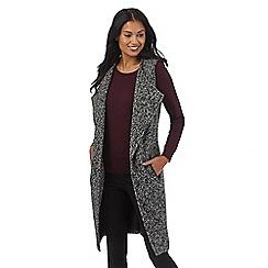 RJR.John Rocha - Grey textured longline waistcoat jacket with wool