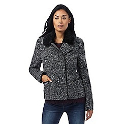 RJR.John Rocha - Grey tweed biker jacket