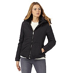 RJR.John Rocha - Black padded faux fur hood trim jacket
