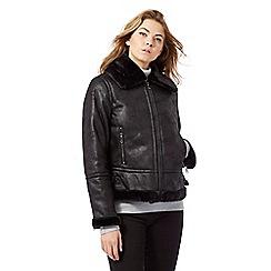 RJR.John Rocha - Black faux fur jacket