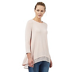 RJR.John Rocha - Light pink back split top