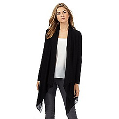 RJR.John Rocha - Black jersey waterfall cardigan