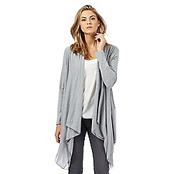 RJR.John Rocha - Grey jersey waterfall cardigan