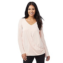RJR.John Rocha - Pale pink wrap top