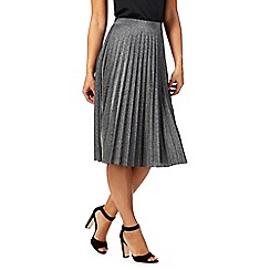RJR.John Rocha - Grey metallic pleated skirt