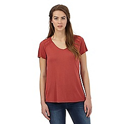 RJR.John Rocha - Dark red stitched yoke top