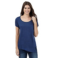RJR.John Rocha - Dark blue asymmetric layered top