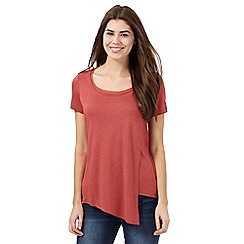 RJR.John Rocha - Red asymmetric layered top