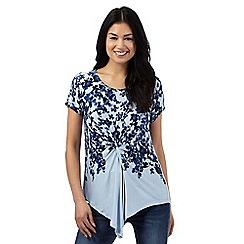 RJR.John Rocha - Blue floral print knot top