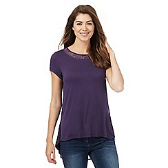 RJR.John Rocha - Purple lace trim jersey top