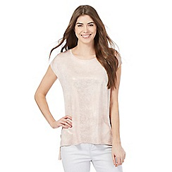 RJR.John Rocha - Pale pink metallic top