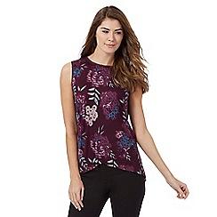 RJR.John Rocha - Dark purple sleeveless print top