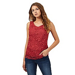 RJR.John Rocha - Dark rose lily lace embellished top