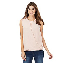 RJR.John Rocha - Light pink twist front top