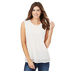 RJR.John Rocha - Ivory embroidered vest top