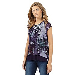 RJR.John Rocha - Purple floral print top