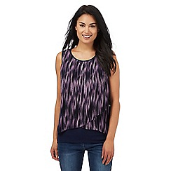 RJR.John Rocha - Purple ikat print top