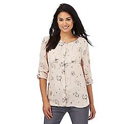RJR.John Rocha - Pale pink dandelion print shirt