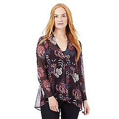 RJR.John Rocha - Dark purple floral print top