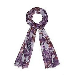 RJR.John Rocha - Purple floral print scarf