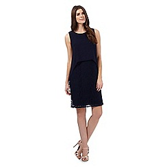 RJR.John Rocha - Navy layered chiffon dress