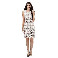 RJR.John Rocha - Ivory cut-out spot patterned knee length dress