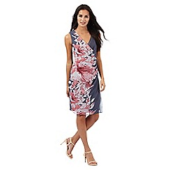 RJR.John Rocha - Grey lilly print midi dress