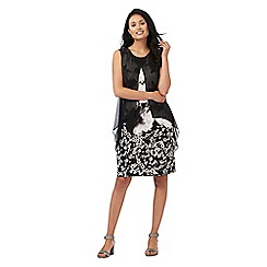 RJR.John Rocha - Black floral print dress