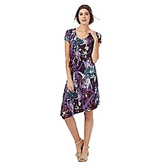 RJR.John Rocha - Purple floral print jersey dress