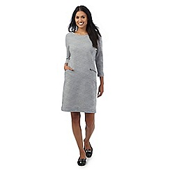 RJR.John Rocha - Grey textured jersey dress