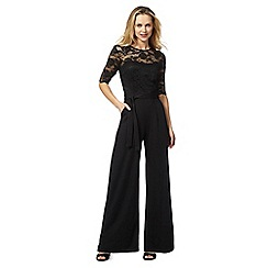 RJR.John Rocha - Black lace wide leg jumpsuit