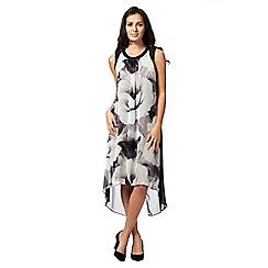 RJR.John Rocha - Black chiffon floral print midi dress