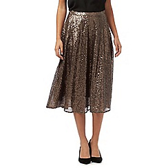 RJR.John Rocha - Bronze knee-length sequin skirt