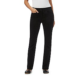 RJR.John Rocha - Black cotton slim trousers