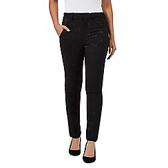 RJR.John Rocha - Black jacquard textured slim fit trousers
