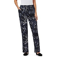 RJR.John Rocha - Dark grey tree print wide leg trousers
