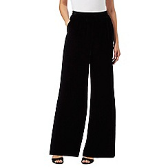RJR.John Rocha - Black velvet wide leg casual trousers