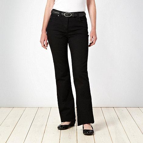 Rocha.John Rocha Petite - Petite shape enhancing black denim boot cut jeans