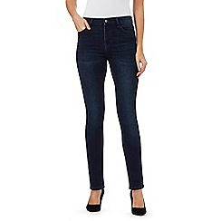 RJR.John Rocha - Dark blue 'Brooke' high-waisted slim leg jeans